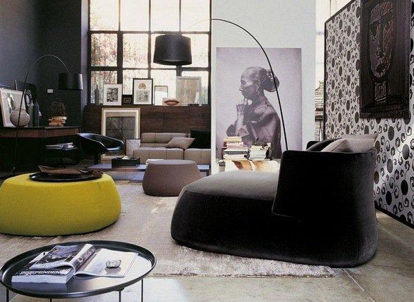 design : moderne wohnzimmer schwarz weiss ~ inspirierende bilder ... - Modernes Wohnzimmer Schwarz Wei Laminat