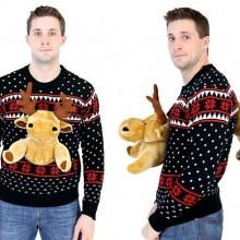 Hässlich Christmas sweater Ideen 3d Weihnachten Pullover Rentier