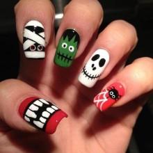 Halloween Acryl-Nägel Ideen-Halloween-Nagel-Kunst-Acryl-halloween nail designs