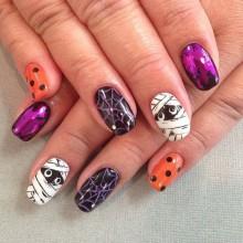 Halloween Acryl-Nägel Ideen halloween nail art Acryl-Nägel halloween-designs