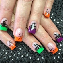 Halloween Acryl-Nägel Ideen halloween nail art designs