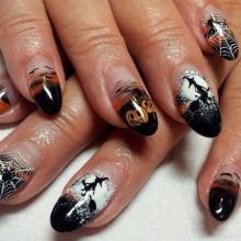 - Halloween-Acryl-Nägel Ideen perfekte halloween nail design -