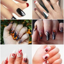 Halloween Acryl-Nägel halloween-Nagel-design-Ideen-halloween-nail-art