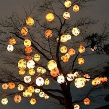 Halloween Baum Dekoration Garten Deko-Baum Lichter
