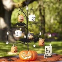 Halloween Baum Dekoration Ideen Garten Dekoration trick or treat-Süßigkeiten-Kürbis-Baum