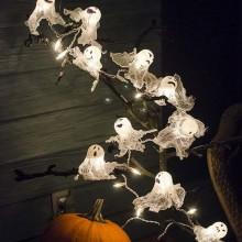 Halloween Baum Dekoration Kürbisse Geist Leuchten