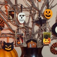 Halloween Baum Dekoration Papier Handwerk für Kinder halloween-Ornamente Geister Kürbis Schädel