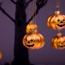 Halloween Baum Dekoration halloween Ornamente Ideen Kürbisse