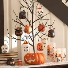 Halloween Baum Dekoration trick or treat pumpkin tree decoration DIY-Ideen