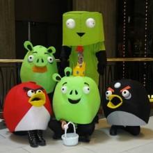 Halloween-Kostüme Ideen Familie Kostüme Ideen angry birds