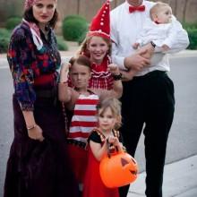 Halloween-Kostüme Ideen Familie Zirkus-Zigeuner-Wahrsager Akrobaten