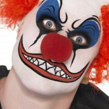 Halloween-clown make-up-böse-clown-Ideen, DIY-make-up rote Perücke