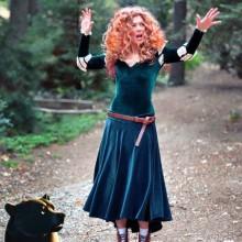 Halloween fancy dress Kostüme Halloween-Kostüme für Frauen merida