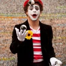Halloween make-up Ideen mime-clown make-up-easy DIY halloween-Kostüm-Ideen