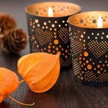Herbst Deko-Ideen mit physalis-Tee-Kerzen Tisch Deko Ideen