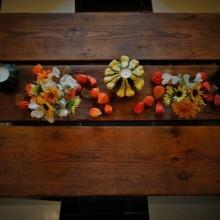 Herbst Tisch Deko-Ideen mit physalis Blumen-arrangement Ideen