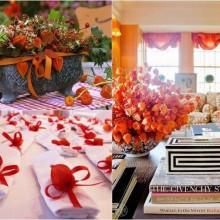 Herbst Tisch Deko-Ideen mit physalis Gesteck Tischdekoration Ideen