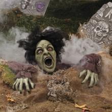 Horror-Deko-Ideen Garten Dekoration schreienden zombie scary Halloween-Dekorationen