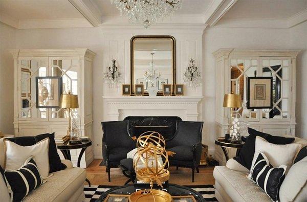 stunning wohnzimmer weis schwarz gold pictures - unintendedfarms ...