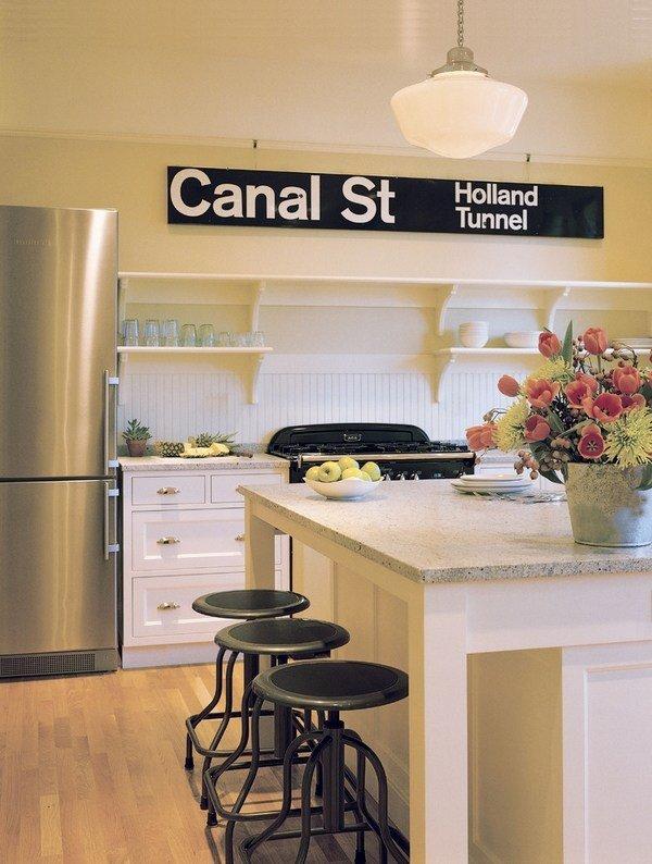 Küche deko ideen wand dekoration vintage singt offene regale ...