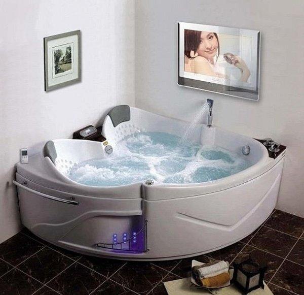 Luxus badezimmer mit whirlpool  Kleine Badewanne Deko: kleine badezimmer schn einrichten ganz ...