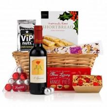 Luxus-Geschenk-Korb zu Weihnachten Geschenk-Ideen, Wein, Süßigkeiten