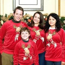 Matthew Broderick und Kristin Davis deck the halls Weihnachten Pullover Rentier