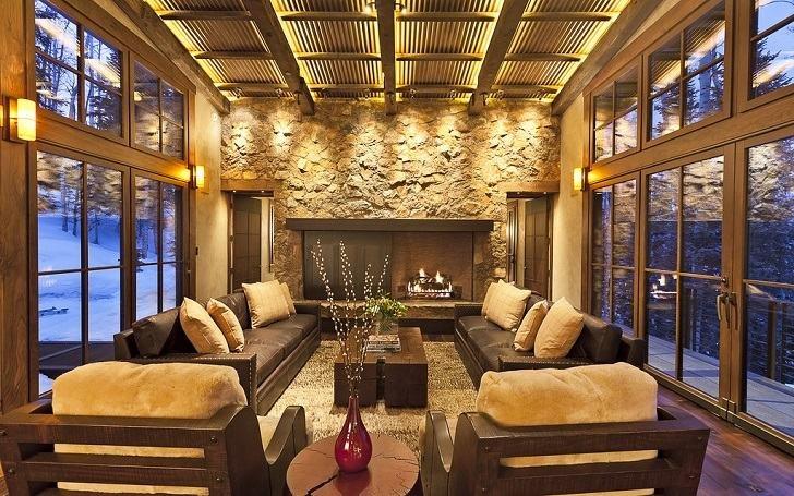 Wohnzimmer Deko Steinwand