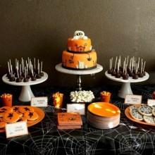 Nicht scary Halloween-Kuchen-Dekoration halloween-party behandelt
