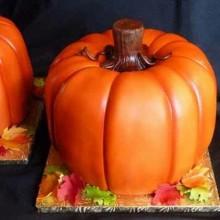 Non scary Halloween-Kuchen-Dekoration Halloween-party-Ideen-Kürbis-Torten-Kuchen -