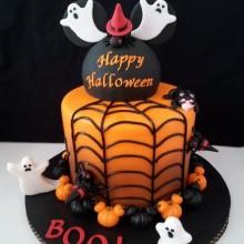 Non scary Halloween-Kuchen-Dekoration-Orangen-Torte webcob Kürbisse, Geister
