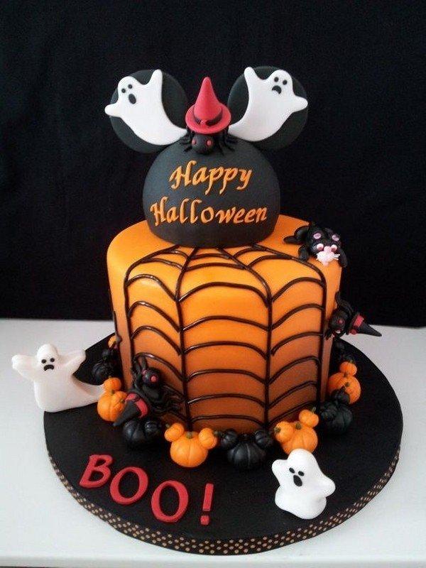 Non Scary Halloween Kuchen Dekoration Orangen Torte Webcob Kurbisse