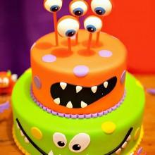 Non scary Halloween-Kuchen-Dekoration halloween-party-Ideen für die Kinder-Spaß-Kuchen