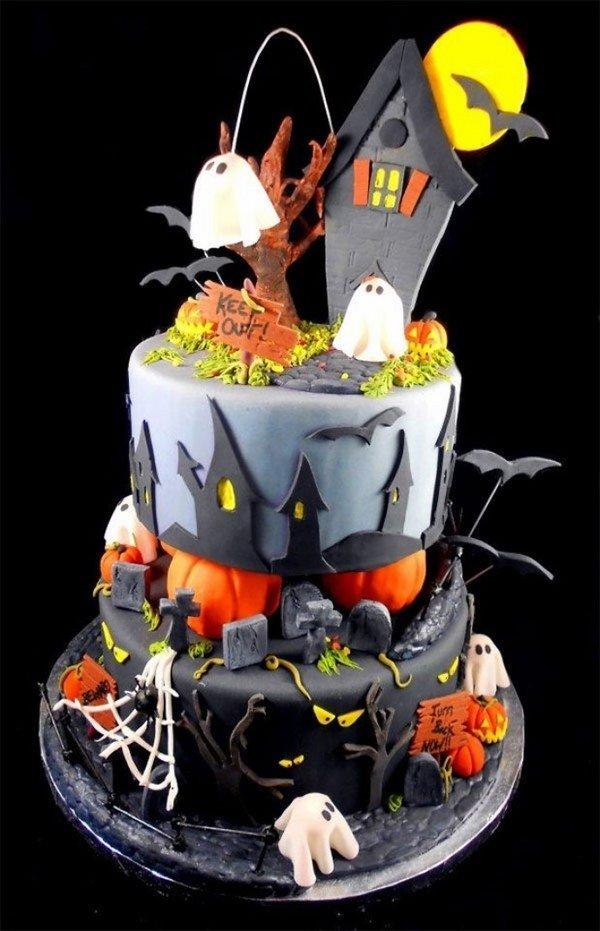 Non Scary Halloween Kuchen Dekorationen Cool Kuchen Ideen