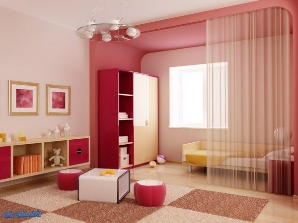 Raumteiler Vorhang Kinder Schlafzimmer design-Ideen Schlafzimmer ...