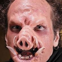 Realistische Halloween-Masken Ideen, halloween Kostüm Ideen, Schwein-Maske