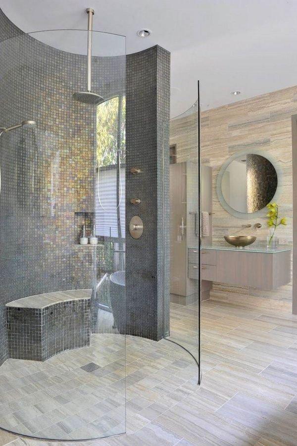 Best Badezimmer Mosaik Dusche Referenzen Fliesen Er Moderne Deko With Moderne  Duschen With Badezimmer Mit Mosaik