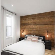 Schlafzimmer design apartment renoavation 867 De Bougainville Quebec