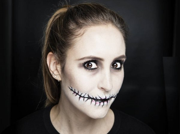 schnelles halloween make up ideen diy scary halloween make up. Black Bedroom Furniture Sets. Home Design Ideas