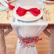 Silber Weihnachten Tischdekoration Ideen Gläsern Perlen-Verzierungen