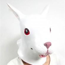 Silicone Halloween masks realistic halloween masks animal mask white rabbit