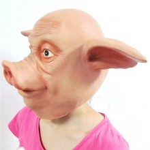 Silikon Halloween-Masken realistische halloween-Masken Tier-Schwein-Kopf Halloween-Maske