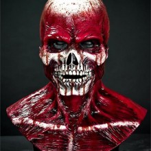 Silikon Halloween-Masken realistische halloween-Masken, blutige Skelett -