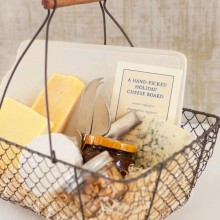 Weihnachts-Geschenk-Korb-Ideen gourmet-Lebensmittel-Korb Käse