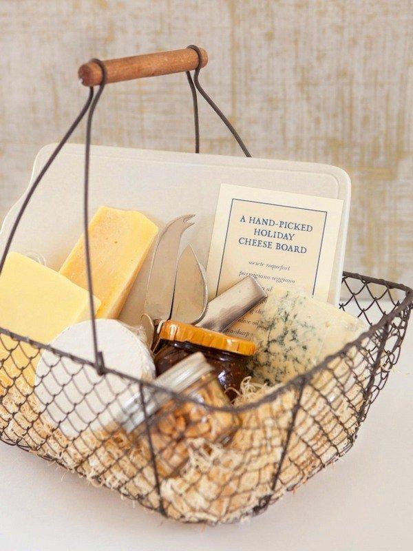Weihnachts-Geschenk-Korb-Ideen gourmet-Lebensmittel-Korb Käse ...