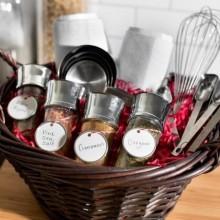 Weihnachts-Geschenk-Korb Ideen spice Auswahl Küchengeräte