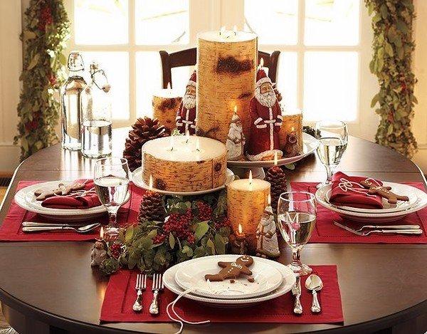 Weihnachts Tabelle Dekor Ideen Herzstück Ideen Kerzen Tannenzapfen