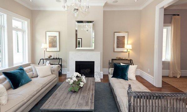 Wohnzimmer Farbschemata edgecomb Grau Wand Farbe weiß trimmt ...