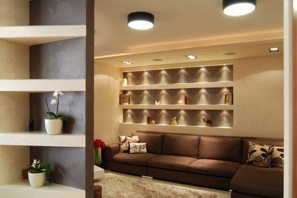 Wohnzimmer design-Ideen, die in Braun-und beige-Braun-Ecke ...