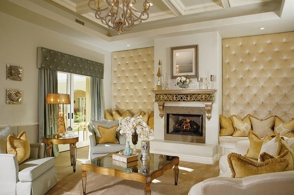 wohnzimmer design tapeten : Wohnzimmer-design-Tapeten getuftete Wand ...